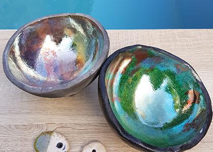 Terre Ceramica e Arte - Lavori degli allievi - Raku